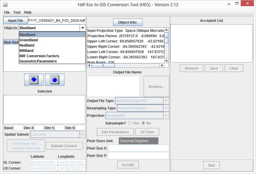 HDF-EOS to GeoTIFF Conversion Tool (HEG)