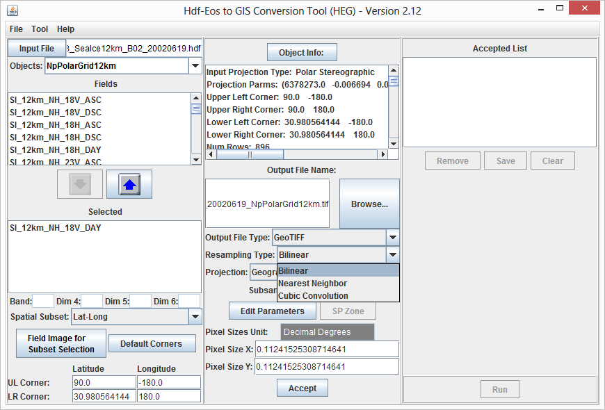 HDF-EOS to GeoTIFF Conversion Tool (HEG)