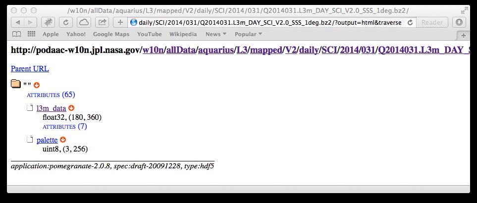 Accessing Remote HDF Data using Pomegranate